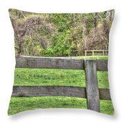 Fence Field Throw Pillow