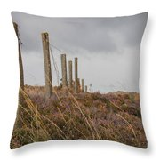 Fence In The Storm In Norway Throw Pillow