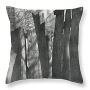 Fence Installation  Throw Pillow