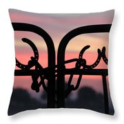 Fence Of Luck Throw Pillow