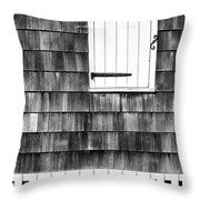 Fence Shutter And Weathered Wall Throw Pillow