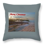 Fence To The Beach Throw Pillow