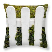 Fence With Hedge Throw Pillow