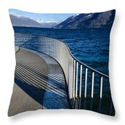 Fence With Shadow Throw Pillow