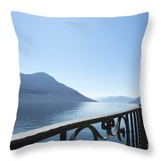Fence With Street Lamp Throw Pillow