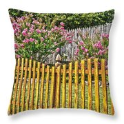 Fenced Beauty Throw Pillow