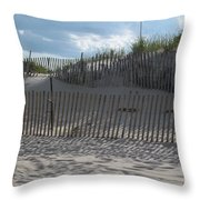 Fenced Dune Throw Pillow