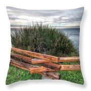 Fenced Grass Throw Pillow