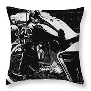 Fenced In At Indy Flhr Throw Pillow