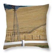 Fenced In Throw Pillow