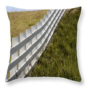 Fenced In Or Fenced Out Throw Pillow