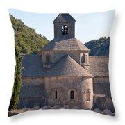 Fenced Lavender Throw Pillow