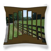 Fenced Pasture Throw Pillow