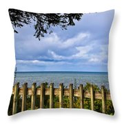Fenced View Throw Pillow