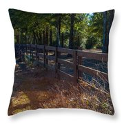 Fenceline 1 Throw Pillow