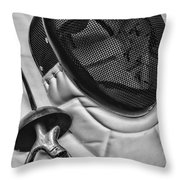 Fencing - Fencing Mask And Sword Throw Pillow