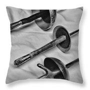 Fencing - Fencing Swords Throw Pillow