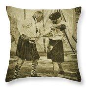 Fencing Practice Throw Pillow
