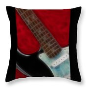 Fender-9644-fractal Throw Pillow