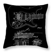 Fender Guitar Tremolo Patent Art 1956 Throw Pillow