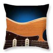 Fender Stratocaster Curves Throw Pillow