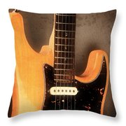 Fender Stratocaster Electric Guitar Throw Pillow