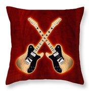 Fender Telecaster Custom Throw Pillow