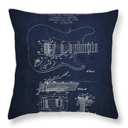 Fender Tremolo Device Patent Drawing From 1956 Throw Pillow by Aged Pixel