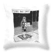 'fendi Bag Lady' Throw Pillow