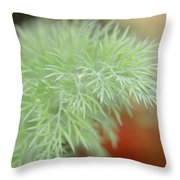 Fennel Plant Throw Pillow