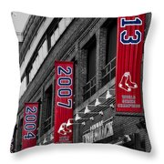 Fenway Boston Red Sox Champions Banners Throw Pillow