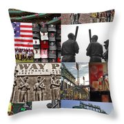 Fenway Memories Throw Pillow by Joann Vitali
