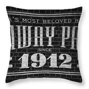 Fenway Park Boston Ma 1912 Sign Throw Pillow