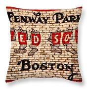 Fenway Park Boston Redsox Sign Throw Pillow