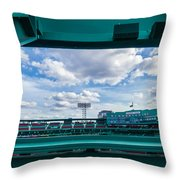 Fenway Park From The Green Monster Throw Pillow