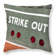 Fenway Park Green Monster Scoreboard IIi Throw Pillow