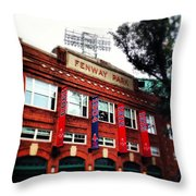 Fenway Park In October 2013 Throw Pillow