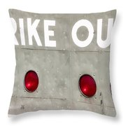 Fenway Park Strike - Out Scoreboard  Throw Pillow