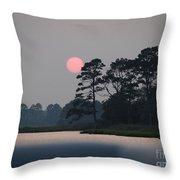 Fenwick Island Delaware Sunset Throw Pillow