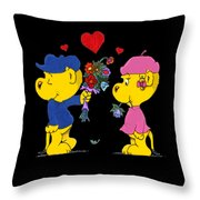 Ferald And Sahsha Throw Pillow