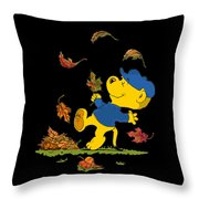 Ferald Dancing Amongst The Autumn Leaves Throw Pillow