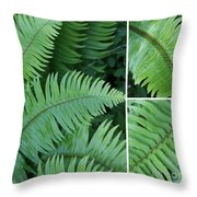 Fern Collage Throw Pillow