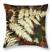 Fern In The Forest Throw Pillow