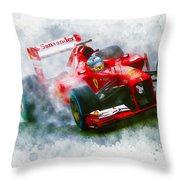 Fernando Alonso Of Spain Throw Pillow