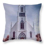 Ferndale Church Throw Pillow