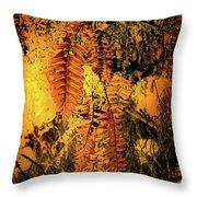 Ferns In Fall Throw Pillow