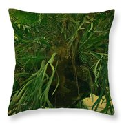 Ferns In The Jungle Room Throw Pillow