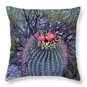 Ferocactus Wislizenii Throw Pillow