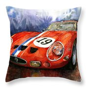 Ferrari 250 Gto 1963 Throw Pillow by Yuriy  Shevchuk