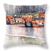 Ferrari 312 Pb Daytona 6 Hours 1972 Throw Pillow